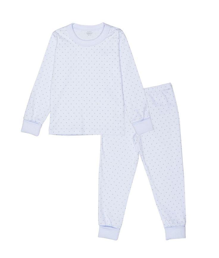 Livly - 2 piece pajama - baby blue/white dots