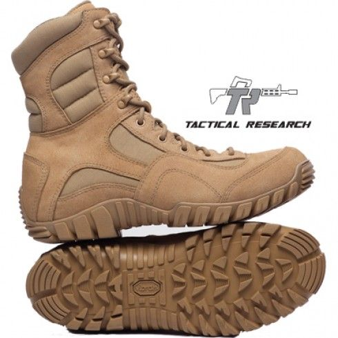 "Tactical Research Khyber Lightweight Mountain Boot 8"" Tan - Tactical Footwear - Footwear & Boots - Tactical Distributors- Tactical Gear"