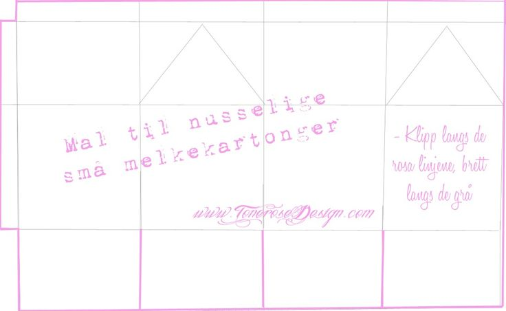 ToneroseDesign Mal MiniMelkekartonger
