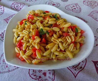 Insalata di gnocchetti freschi sardi con colatura di alici, bottarga e pomodorini