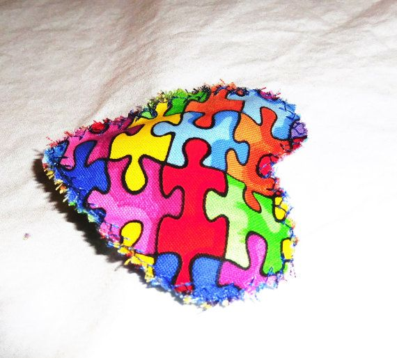 autism awareness lavender sachet heart by FourDirectionsLight