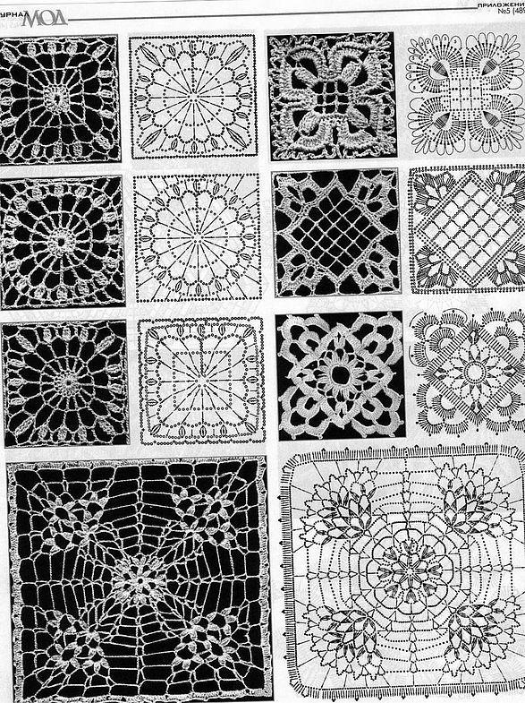 #Crocheted #motifs, mats, etc.   #stitches and patterns  #afs 22/5/13