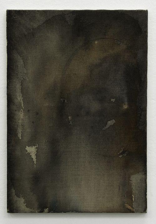 THOMAS KRATZ - 'Untitled', 2007, Acrylic and ink on dyed hessian