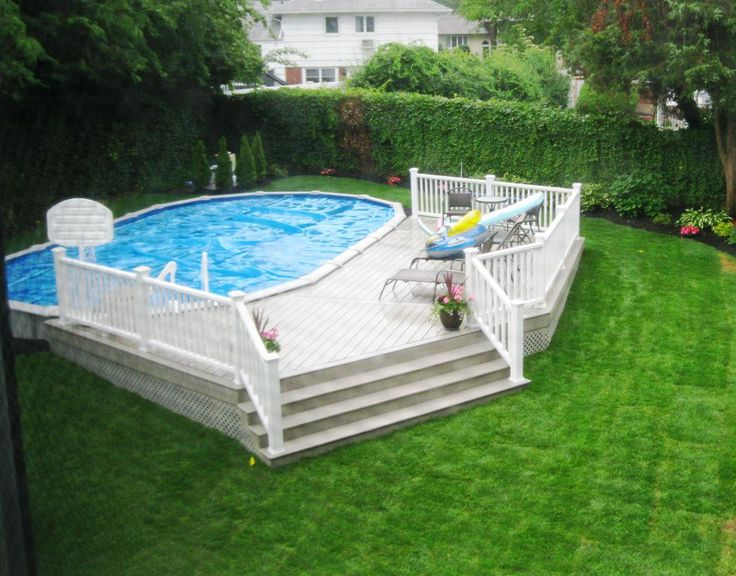 54 best semi inground pools images on pinterest semi for Pool design mcmurray pa