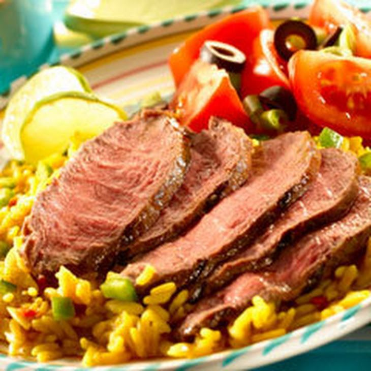 Beefy Chipotle Steak Recipe Main Dishes with boneless sirloin steak, garlic, Knorr® Beef Bouillon, chipotles in adobo, olive oil