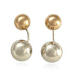 Золотые серьги Dior шары в белом и красном золоте 470144