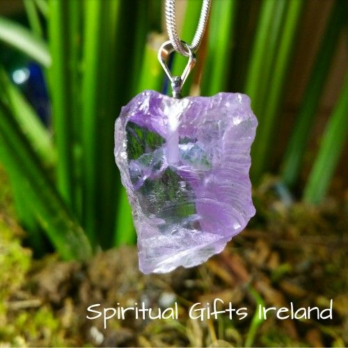 Selene Amethyst Visit our store at www.spiritualgiftsireland.com  Follow Spiritual Gifts Ireland on www.facebook.com/spiritualgiftsireland www.instagram.com/spiritualgiftsireland www.etsy.com/shop/spiritualgiftireland We are also featured on Tumblr  💜This Amethyst pendant is in its raw and purest state.  Perfect for those who like something a bit smaller in size.  The light purple colour creates a sense of calm and contentment. 🌌Hand cut and unpolished, it is a stone of spirituality and…