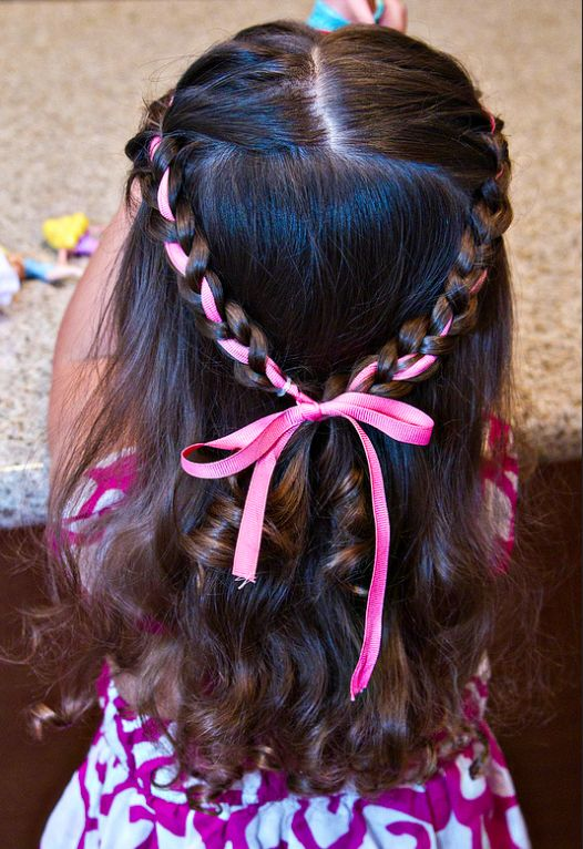Any hairstyle with the word 'princess' in it is guaranteed to appeal to a lot of toddlers. Find the tutorial here.