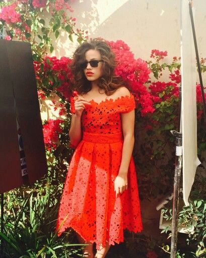 Sarah Jeffery for Behind the scenes of her new photoshoot #my little cinnamon roll baby! #beautiful