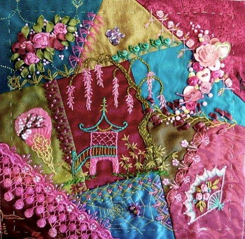 I ❤ crazy quilting & ribbon embroidery . . . ~By Gerry of olderrose