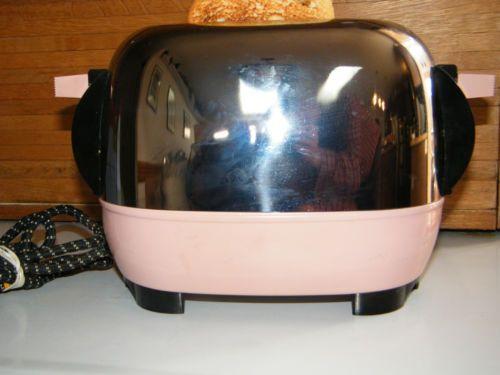 Beautiful Antique Vintage Retro 1950's Mid Century Chrome & Pink Kitchen Toaster