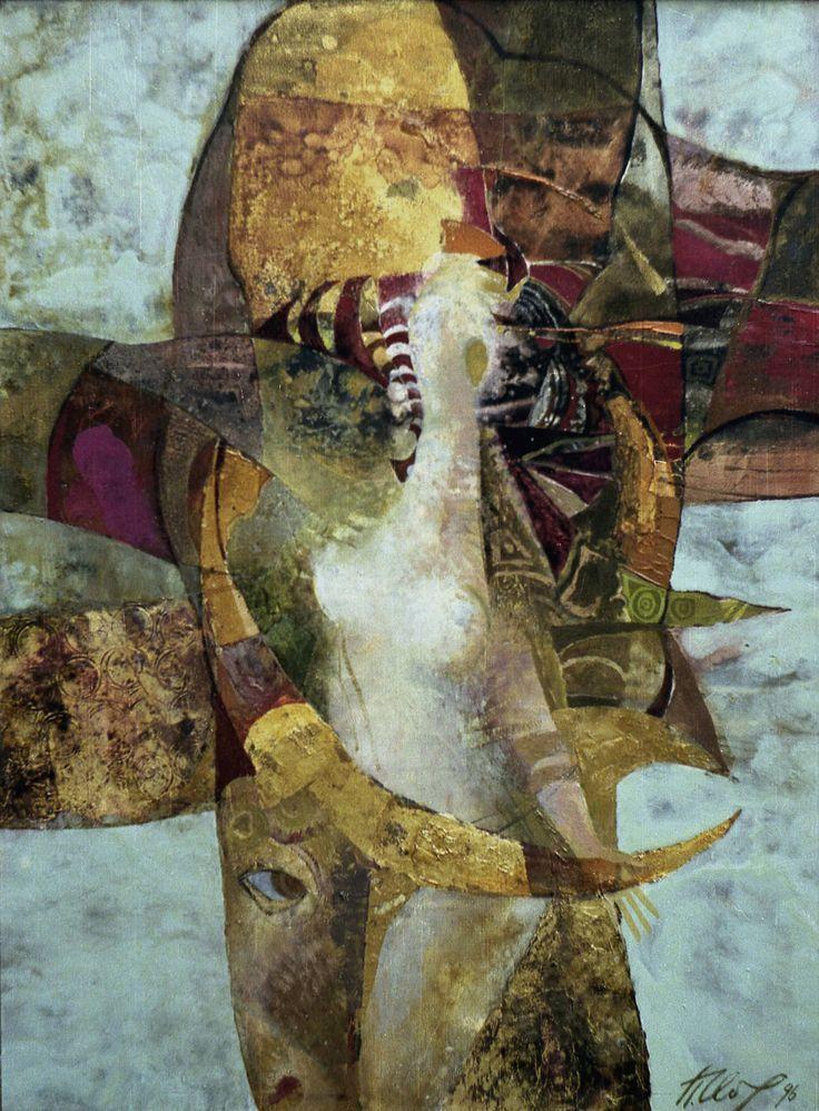 """Павел Обух  """"Похищение Европы"""" 1996 .х.м., 60х80"""