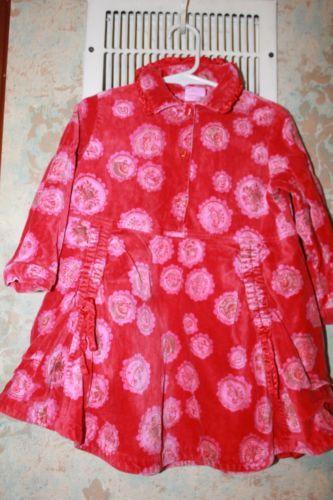 Red velvet floral dress 92 2t ebay ebay pinterest red velvet