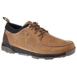 OluKai Makoa WP Leather Waterproof Shoes for Men - Carob/Black -