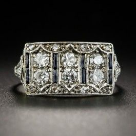 Art Deco Diamond and Sapphire Ring - What's New