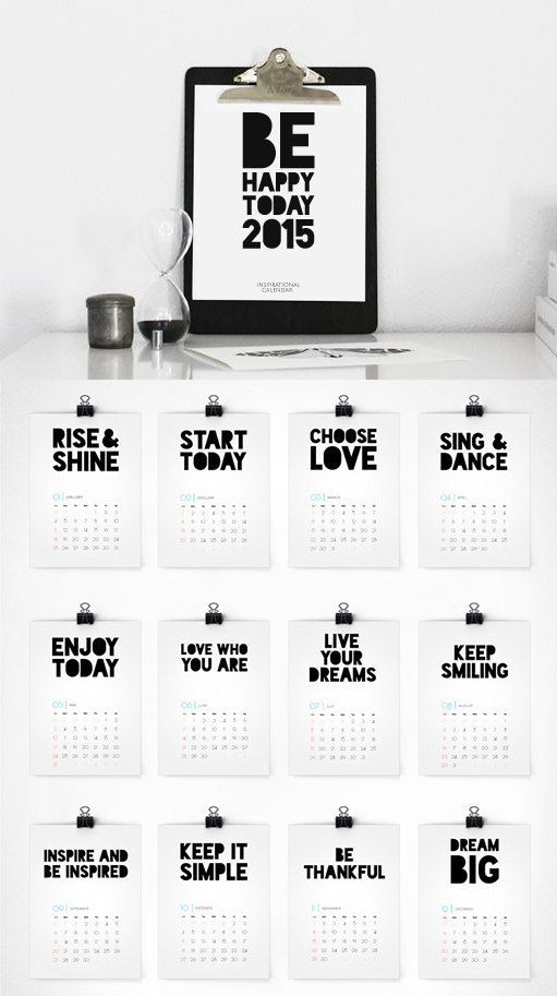 ❤️DIY :Printable Calendar 2015