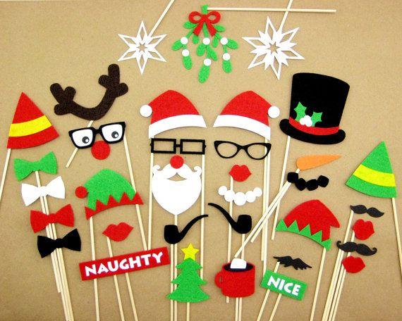 Apoyos de cabina de la foto de Navidad fieltro por PhotoPropsEtc
