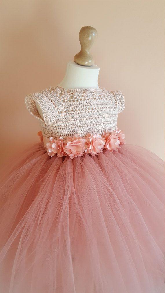 572 best Vestidos de criança images on Pinterest | Crochet baby ...