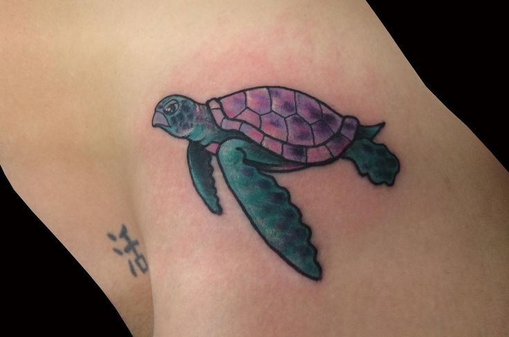 purple sea turtle tattoo | turtle, sea turtle, seaturtle ...