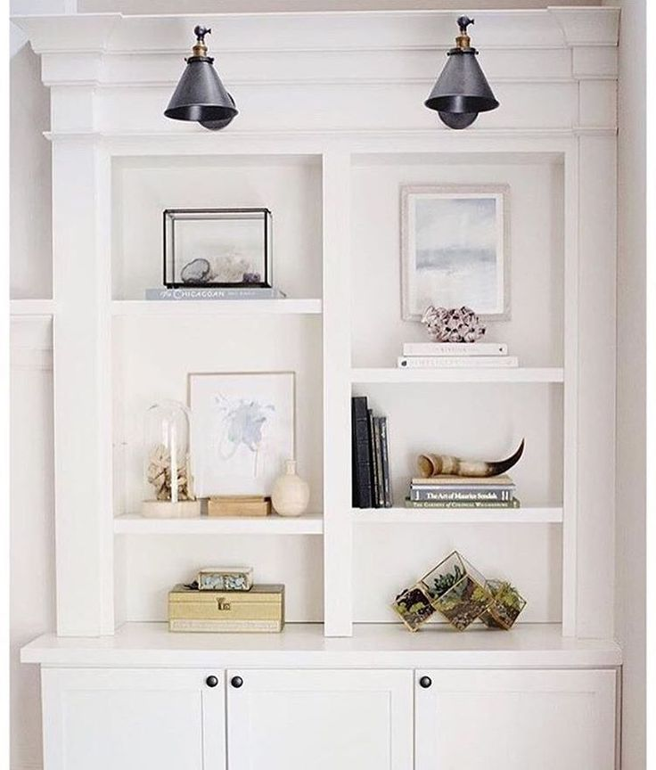 """How about we all promise not to """"shelf"""" our dreams this year? Instead, lets surround ourselves with inspiration and make it happen! I'm definitely feeling it with this wonderful shelving unit @doreencorrigan shared. #shelfie"""