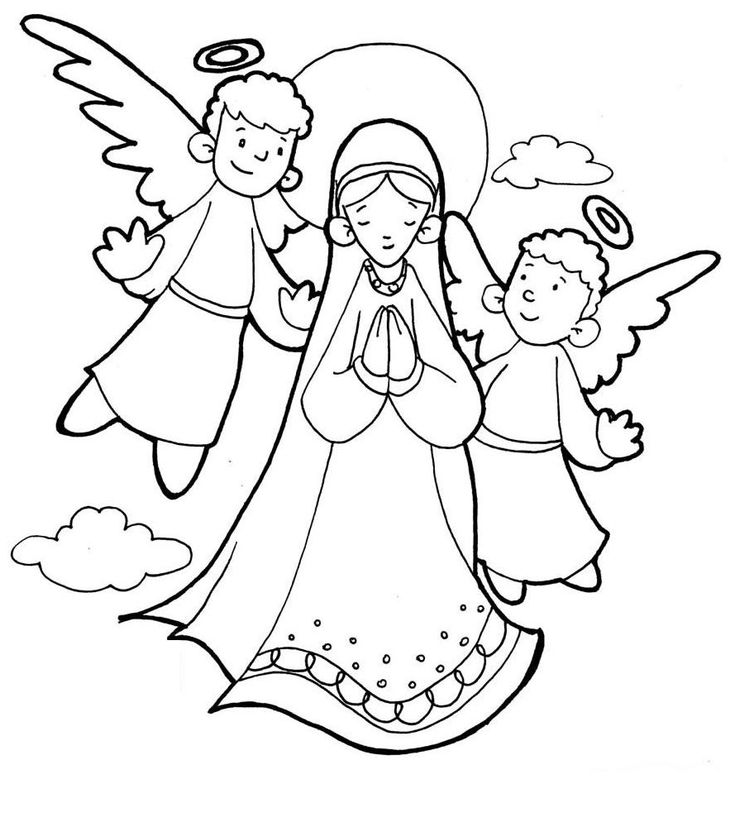 The Assumption of Mary Catholic Coloring Page