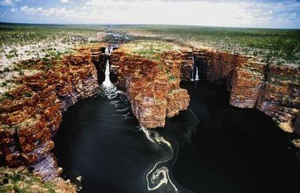 King George Falls, on the Kimberley coast