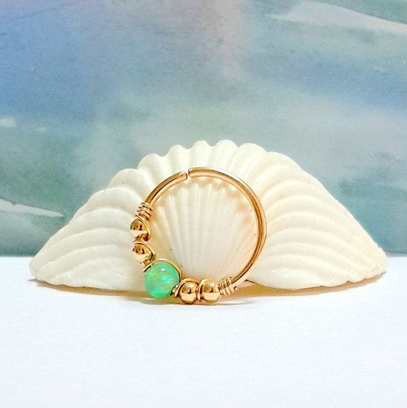 Fire Kiwi Opal Conch Ring, Conch Ring ,Conch Opal Ring, Conch ...