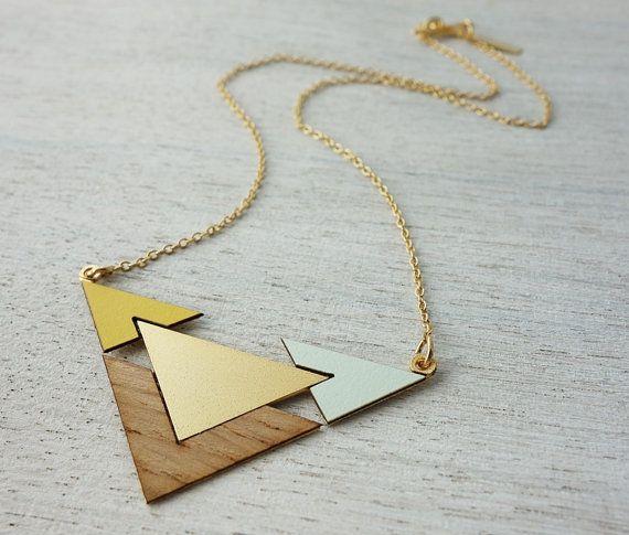Fjord collier bijoux en bois design scandinave par shlomitofir, $69.00