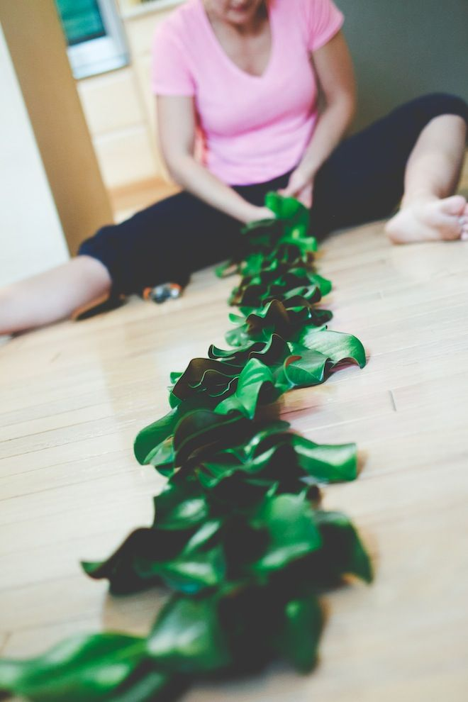 How To Make Magnolia Garland