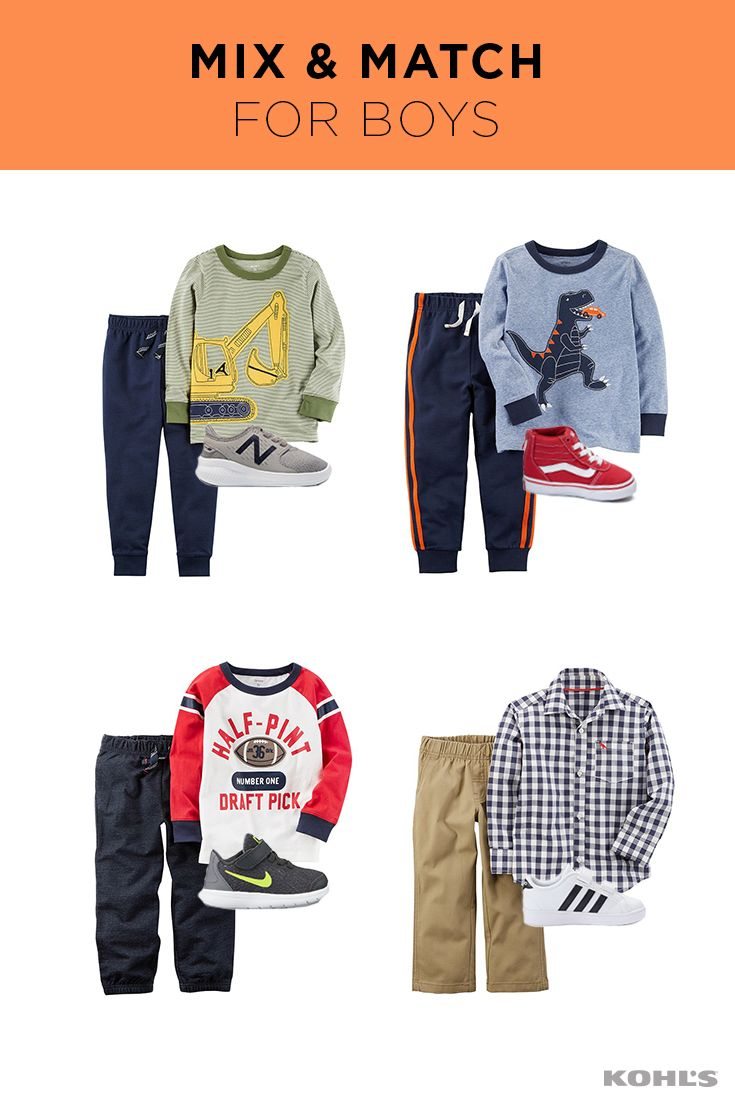From every days to special days, Jumping Beans has got your little guy covered. He'll love the fun designs and patterns. Moms and dads love the easy outfits. Shop Jumping Beans clothes for boys at Kohl's.