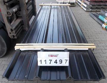 DEAL! Paket des Tages: Beim Kauf dieses Pakets schenken wir Ihnen 250 Stück Selbstbohrschrauben 4,8 x 35 mm in einer der Ware ähnlichen Farbe.   O-Metall Trapezprofil 45.333/3 Dach Paket-Inhalt120,400m2 Materialstärke:0,55mm Farbton ä. RAL 9005 tiefschwarz Netto-Preis773,02 €* Inkl. 19% MwSt.919,89 €* * Ab Lager  AnzahlLängeBreiteFläche  284,0001,075120,400  Paket 117497 / DD - OML   Trapezblech 45.333/3 Dach   Stahlsonderprofil Hochvergütungsstahl beidseitig se