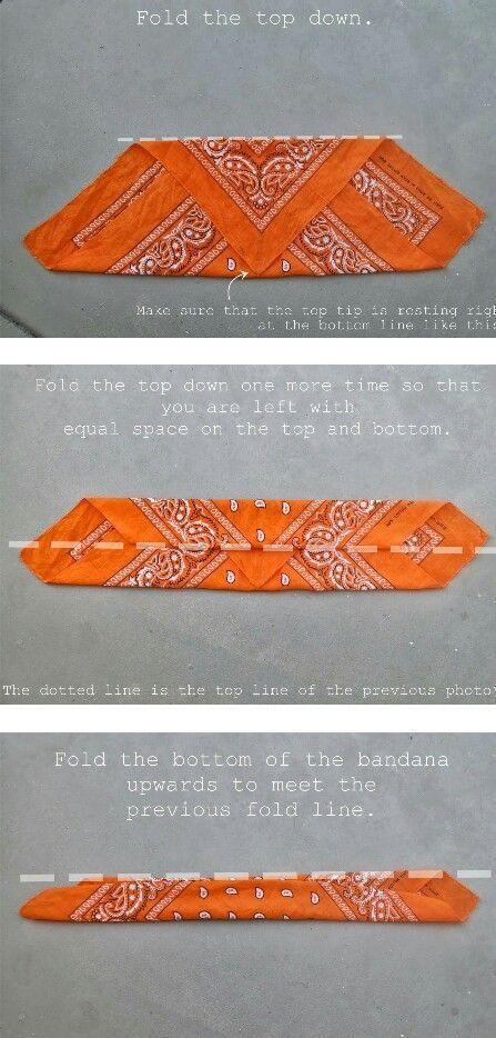 wie man ein Kopftuch für ein Stirnband faltet