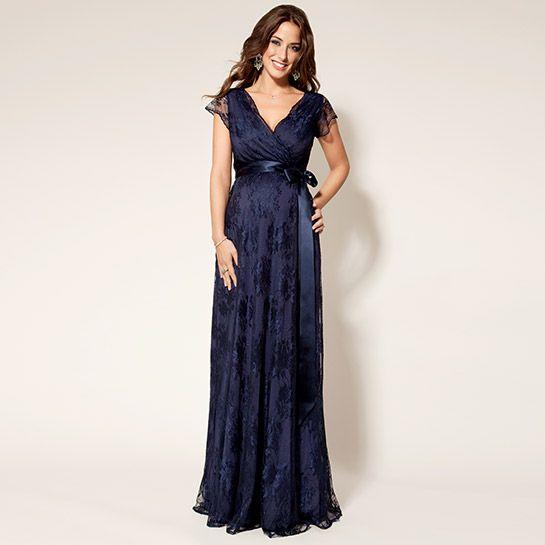 Eden Kleid lang dunkelblau aus der Kategorie Festliche Umstandsmode von Mamarella - Details