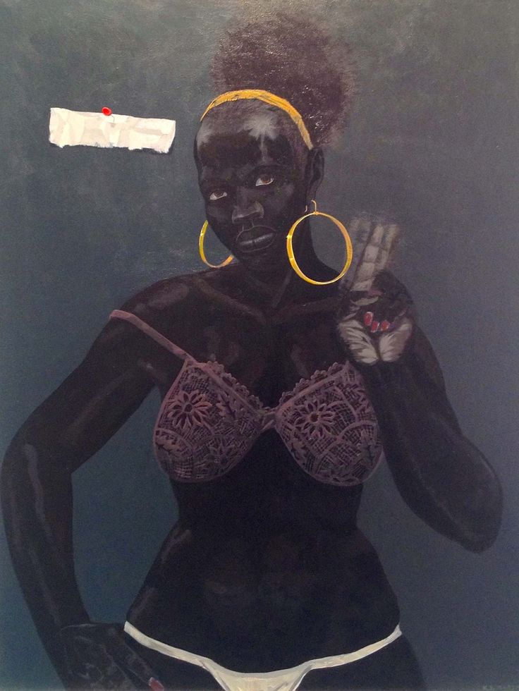 Kerry James Marshall Untitled (Pin-Up), 2008 Acrylic on PVC panel 29 x 24 inches Koplin Del Rio, LA.