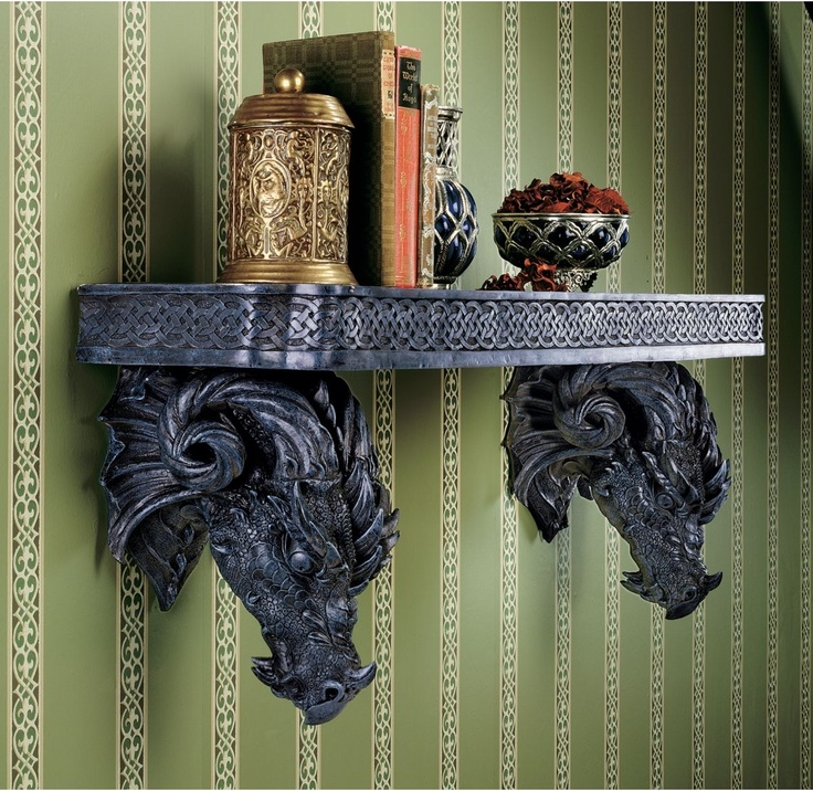 Gothic Dragon Furniture | the aster dragon artist put these classic dragons into service
