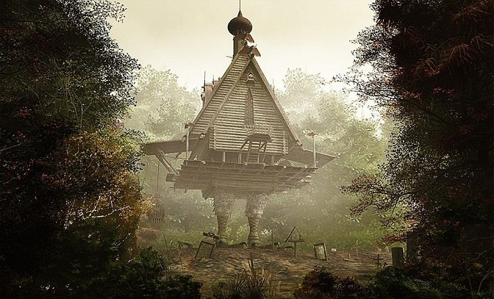 Fairy tail comes to life!!! ... Baba Yaga somewhere in Russia I believe