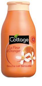 Cottage, Douche lait Fleur d'Oranger, Douche lait Sensuelle aux extraits de Fleur d'Oranger    Une odeur ... envoûtante. J'adore. Vraiment c'est une tuerie ce gel douche.