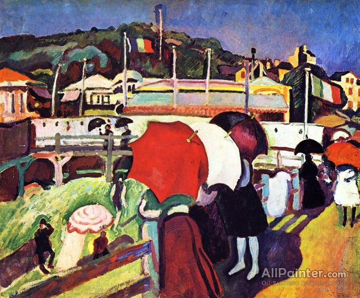 Raoul Dufy,Parasols oil painting reproductions for sale