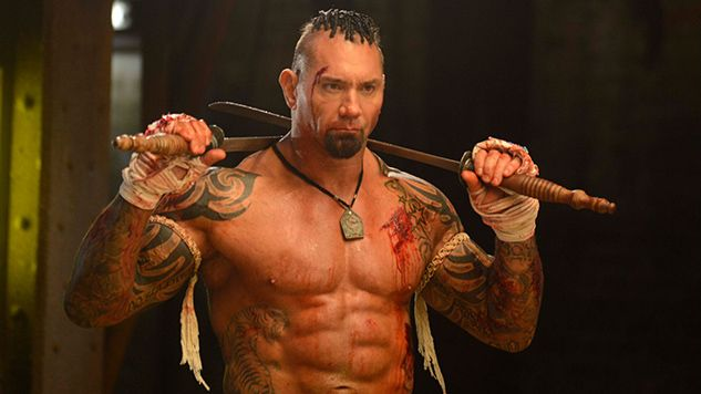 A testament to the power of pain. And also to Dave Bautista.