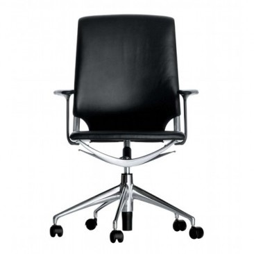 Meda Office Task Chair with Leather & Vitra Meda Office   YLiving