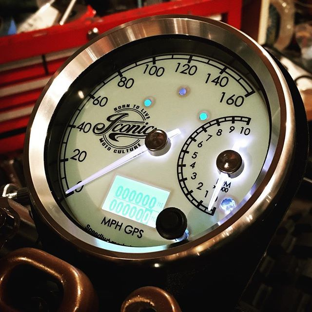 Custom cafe racer gauge by Iconic Moto Culture  www.mad4bikesuk.co.uk #mad4bikesuk