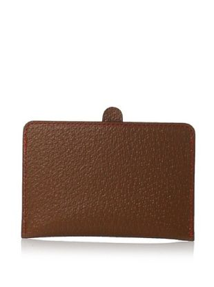 Leone Braconi Men's Credit Card with Lip, Cognac, One Size