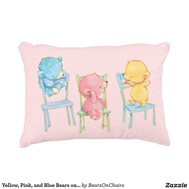 Bears On Chairs. Baby, bebé. Regalos, Gifts. #cojín #pillow