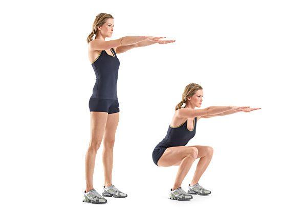 Sentadillas o squats: fortalece tus glúteos, además de tus caderas y piernas, es una de las rutinas de piernas más completa