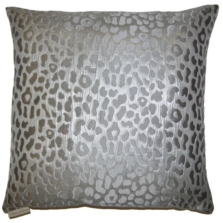Metallic Cheetah Decorative Feather and Down Filled Throw Pillow Feathers, An eye and Eyes