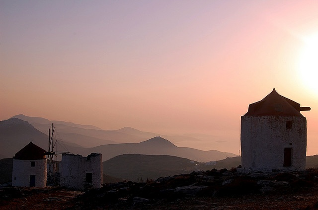 Windmills on #Amorgos Island, #Greece