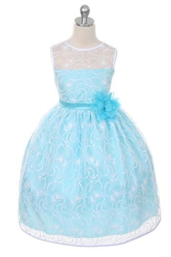 Elegant tea length dress with top quality lace. Colors: White, Black/Rose, Red, Black/Champagne, Ivory, Coral, Ivory/Rose, Aqua, Lavender, Ivory/Champagne Sizes: 2-12 MADE IN USA