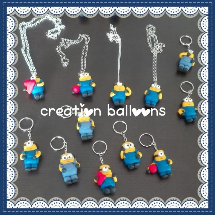 Portachiavi e collanine Minions https://www.facebook.com/CreationBalloons/?ref=aymt_homepage_panel&hc_location=ufi