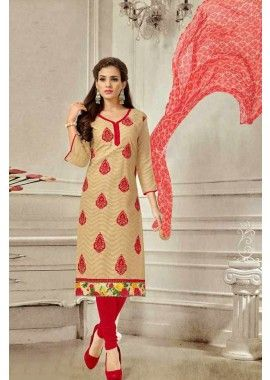 beige brasoo couleur costume coton churidar, - 61,00 €, #Salwarkameezfemme #Salwarkameezpascher #Salwarkameezfrance #Shopkund