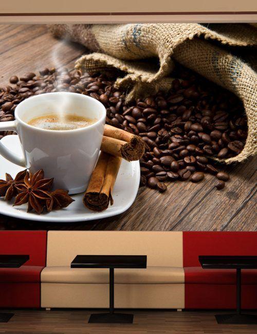 Carta da Parati Caffè e Spezie Carta da Parati Fotomurale per la Cucina